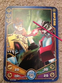 Lego Legends of Chima Battle Card